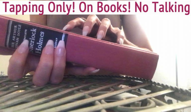 ASMR * Tapping Only Video! * Tapping on lots of Books! *Long Nails * No Talking * ASMRVilla