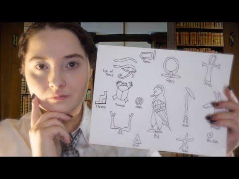 Evie O'Connell Teaches You Ancient Egyptian Symbols [ASMR RP]