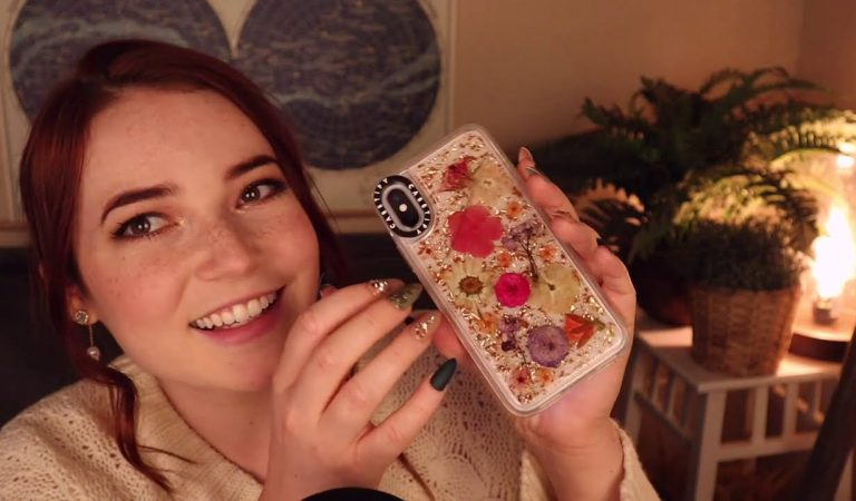 ASMR Acrylic Nail Tapping on Phone Cases