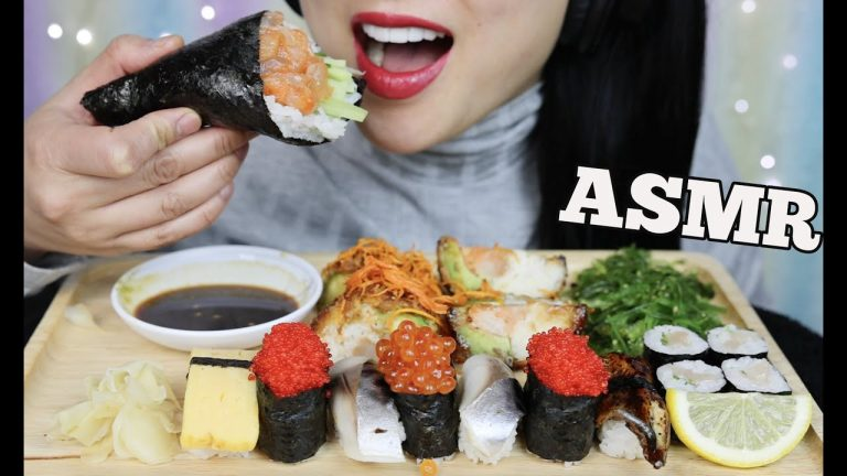 Asmr Sushi Platter Eating Sounds No Talking Sas Asmr Asmrhd Asmr tteokbokki cheese mozzarella sas asmr. asmr sushi platter eating sounds no