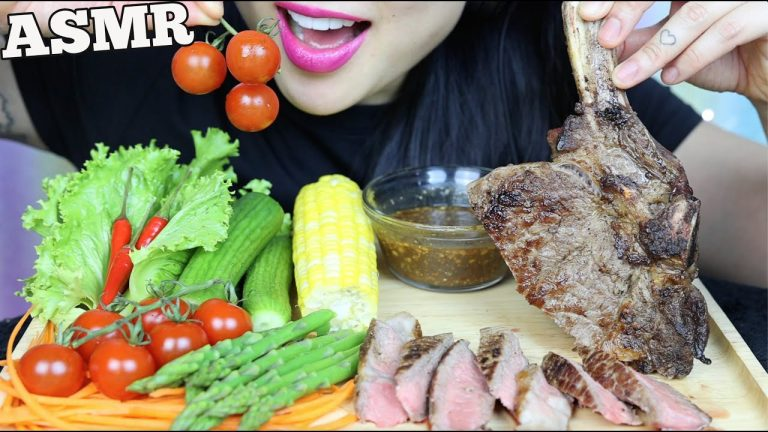 Asmr Tomahawk Steak Fresh Veggies Thai Dipping Sauce Eating Sounds No Talking Sas Asmr Asmrhd Can you tell i was supper hungry.haha i literally almost inhaled my veggie and smokehouse. thai dipping sauce eating sounds