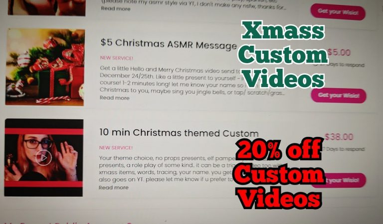 Whisper Lofi Update (Xmass customs & message video, 20% off customs, new videos everyday this month)