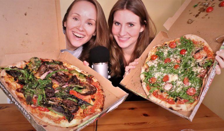 ASMR Pizza Mukbang | Collab mit @Lavieencolour ASMR  (Eating Sounds, Schmatzen, Flüstern)
