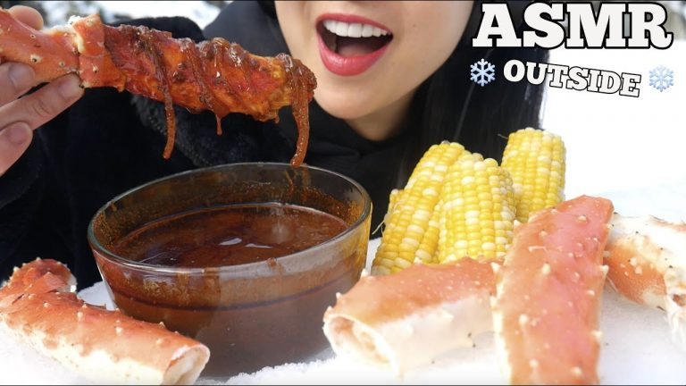 Asmr King Crab Corn Seafood Sauce Eating Sound Outside In The Snow No Talking Sas Asmr Asmrhd Almost nothing else is known about her due the vast amount of food she eats while recording mukbang videos, everyone wonders how she keeps her figure. asmr king crab corn seafood sauce