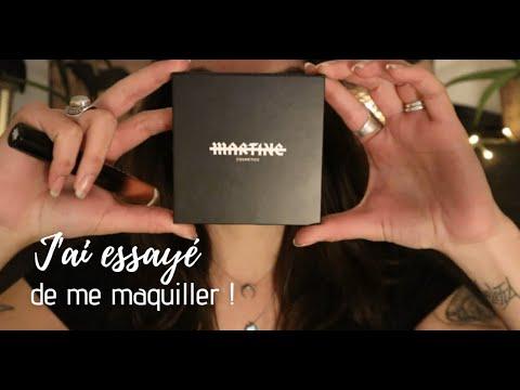 ASMR * J'ai essayé de me maquiller (et c'est RARE lol) * Palette de Martine Cosmetics