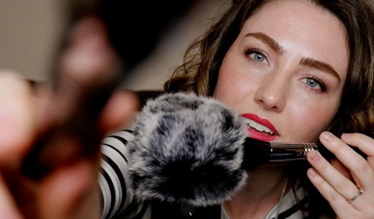 ASMR – BRUSHING YOU – Deep Intense Mic Brushing with Whispers and Subtle Mouth Sounds