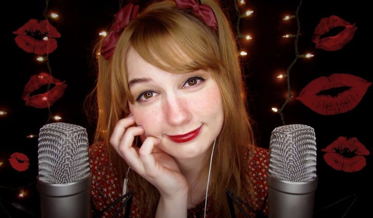ASMR 💋 Kisses + «I Love You, It's Okay, You're Safe» + Face Touching (Breathy Whispers)