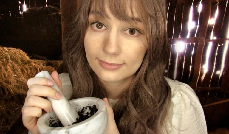 ASMR PEASANT GIRL PATCHES YOU UP ROLEPLAY (Personal Attention, Face Touching, Gender Neutral)