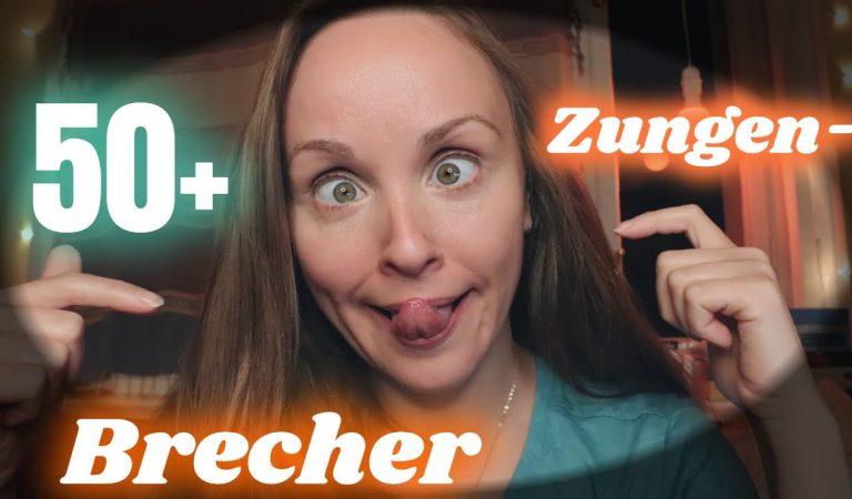 ASMR 50+ DEUTSCHE ZUNGENBRECHER 🤪 (GERMAN TONGUE TWISTERS) | GEFLÜSTERT/ WHISPERED