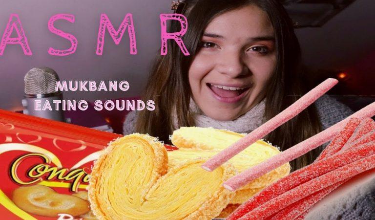 ASMR MUKBANG💜: Comiendo Dulces Ácidos y Galletas (Eating Sounds)