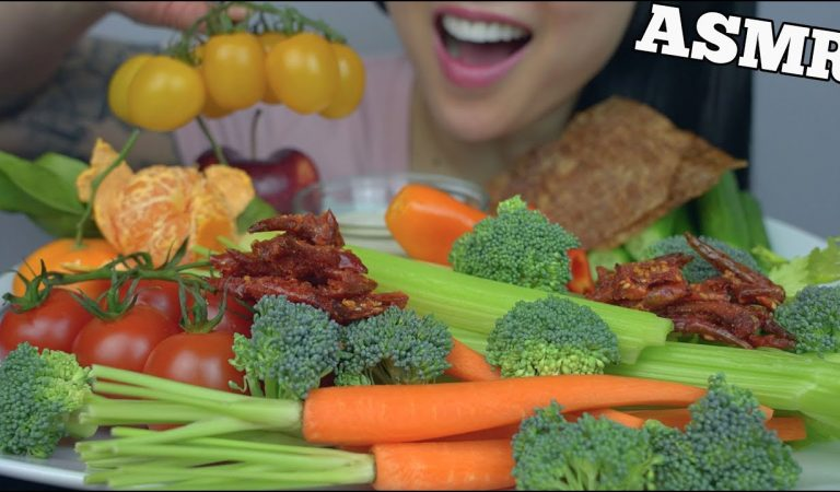 ASMR GIANT VEGGIE PLATTER (EXTREME CRUNCHY EATING SOUNDS) NO TALKING | SAS-ASMR