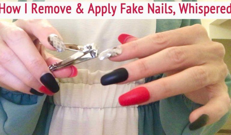 ASMR * How to Remove & Apply Fake Nails * Filing & Cutting Nails * Whispering * ASMRVilla