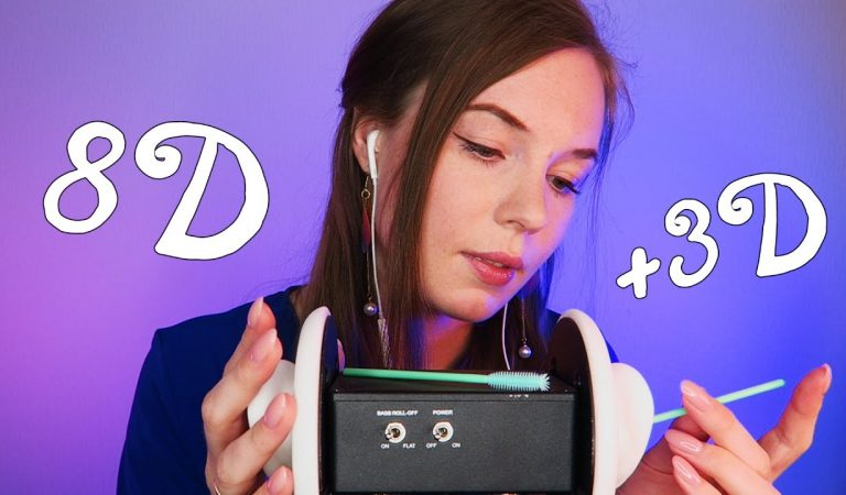 ASMR Ear Cleaning 8D + 3D Binaural [Around Your Head + Through Your Brain]