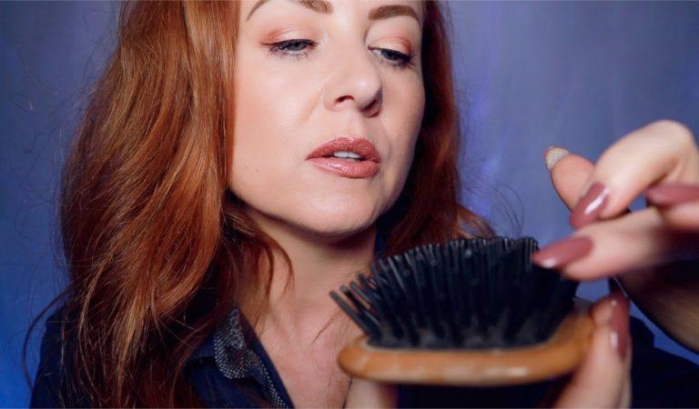 Back to Sleep ASMR 💤 Sleep Inducing Hair Brushing 💤 Whispered, Counting, Dream Lights, Crinkle Shirt