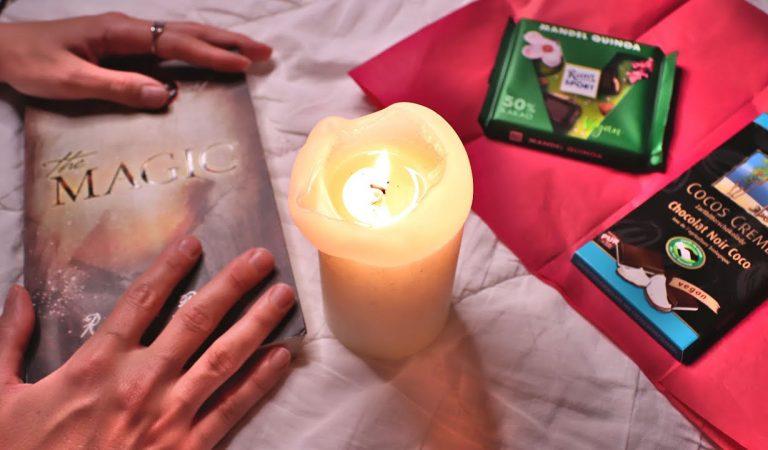 ASMR MAGIE ✨ BEI KERZENSCHEIN | SHOW & TELL, TRACING, VORLESEN/ READING, CRINKLING | SOFT SPOKEN