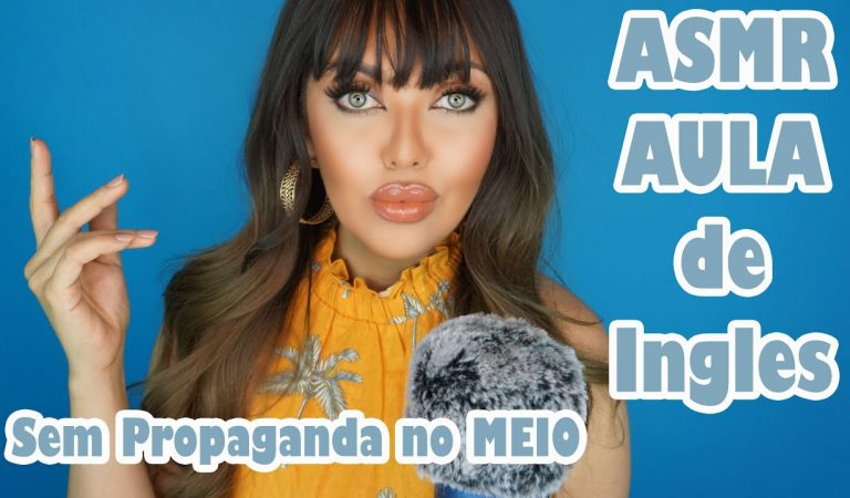 ASMR Aula de Ingles Tema COMIDA #VozSuave #ASMReducacional
