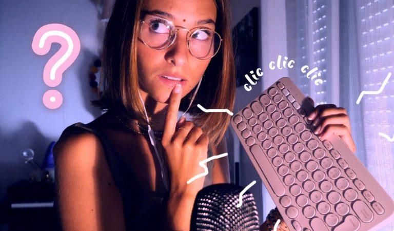 ASMR FRANÇAIS – Ton amie t'aide à stalker ton crush (clavier, DS)