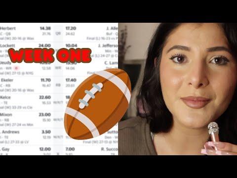 ASMR American Fantasy Football Week 1 Recap / Week 2
