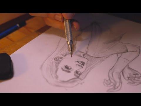 ASMR Sketching my portrait