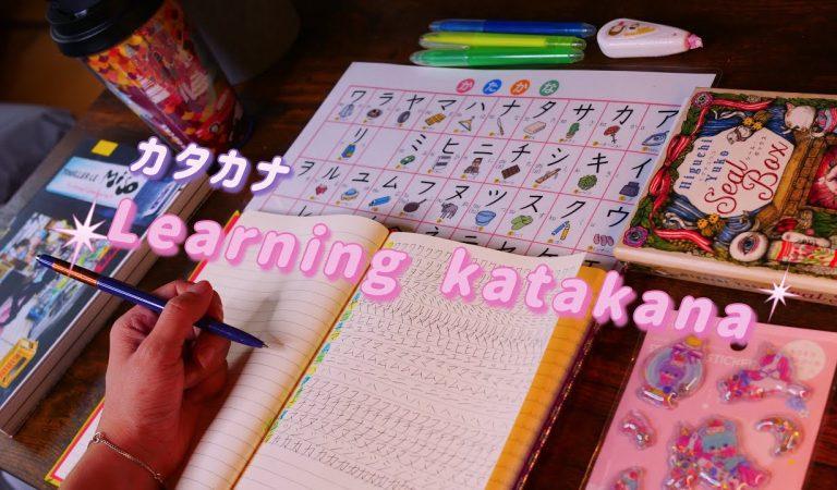 ASMR Learning Katakana (soft spoken + writing sounds)
