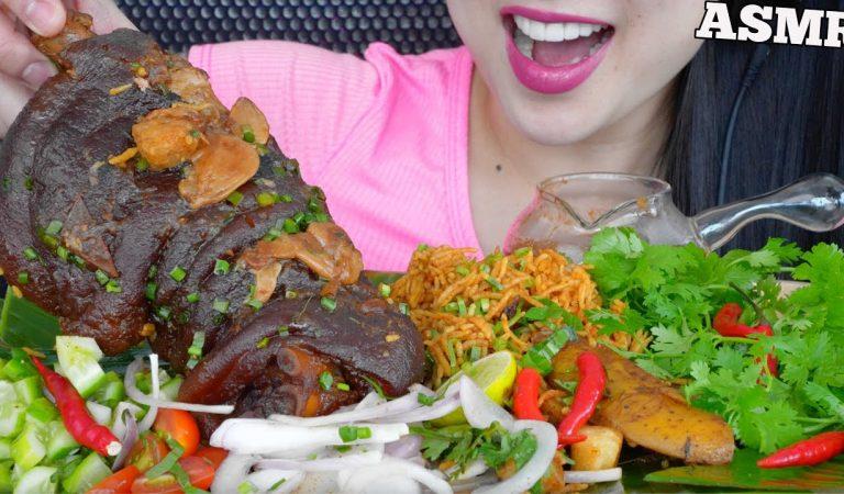 ASMR EATING PORK KNUCKLE BIRYANI (EATING SOUNDS) NO TALKING | SAS-ASMR