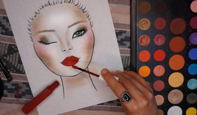 ASMR Maquiando Folha de Papel Rosto Redondo #Sussurros