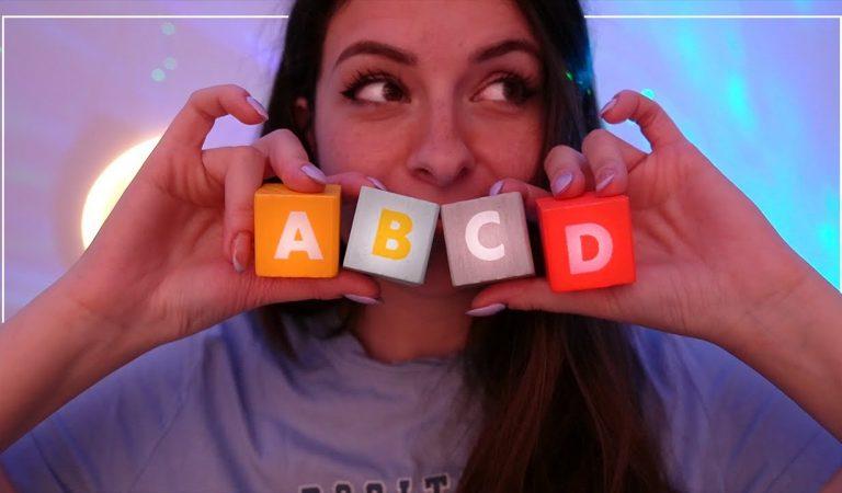 ASMR   Relaxation de A à Z avec l'alphabet ☁️
