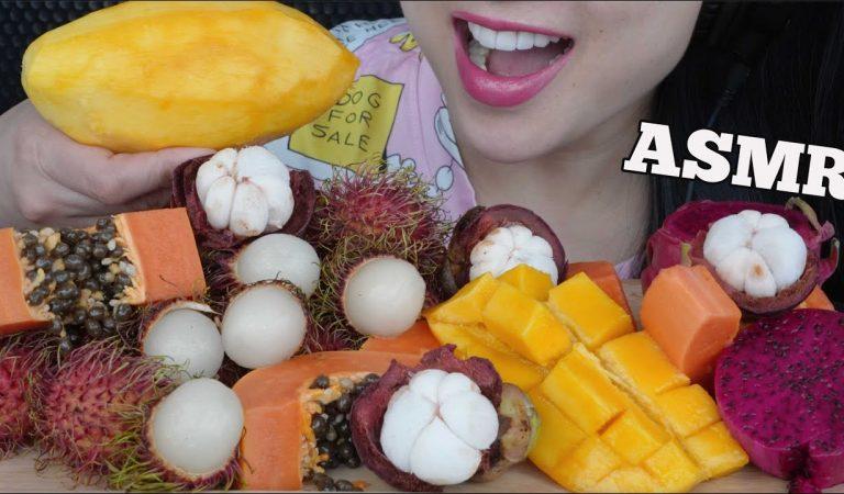 ASMR TROPICAL FRUIT PLATTER (EATING SOUNDS) NO TALKING | SAS-ASMR